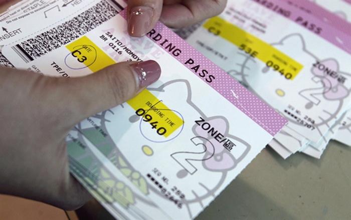 Розовый билет на мультяшный самолет