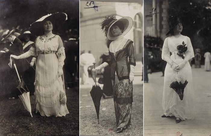 Французские модницы с ипподрома Лоншан.
