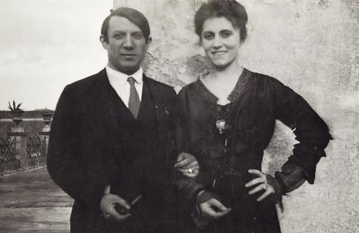 Пабло Пикассо и Ольга Хохлова в Риме, 1917 год