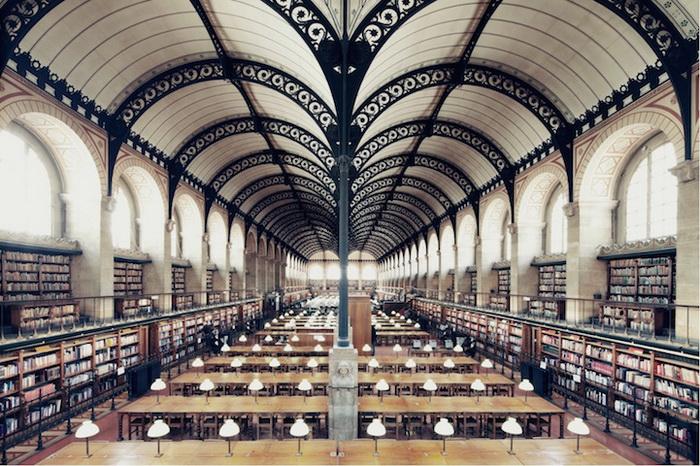 Библиотека Сент-Женевьев (Париж). Фотограф Фрэнк Бобот (Franck Bohbot)