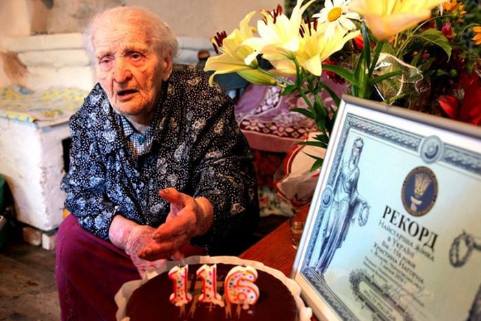 В прошлом году Кристину Нагорую признали рекордсменом-долгожителем в Украине.