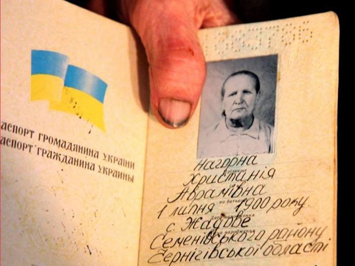 Паспорт Кристины Нагорной. Дата рождения: 1 июля 1900 года.