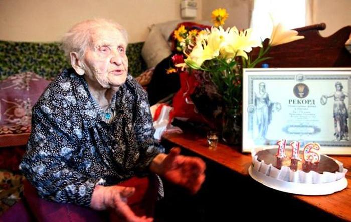 Кристина Нагорная - украинская долгожительница.