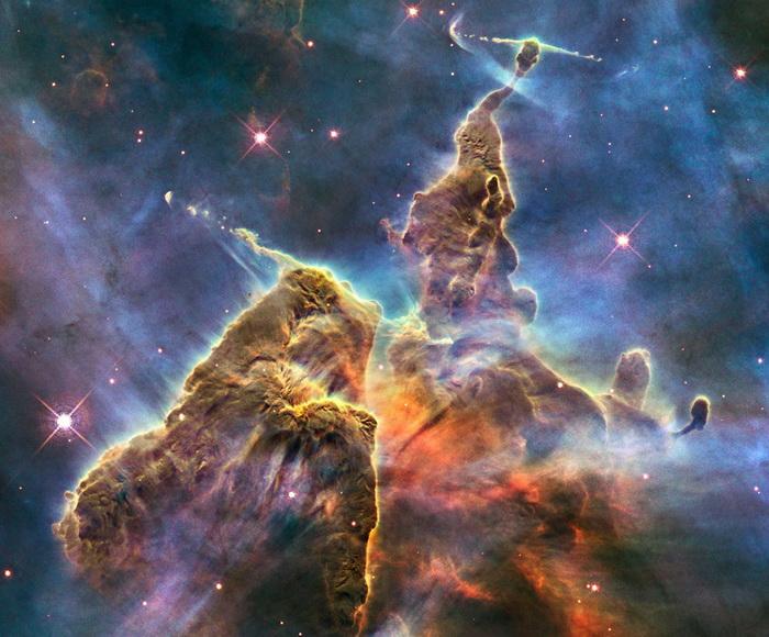 Рождение новой звезды на уникальном снимке телескопа *Хаббл*