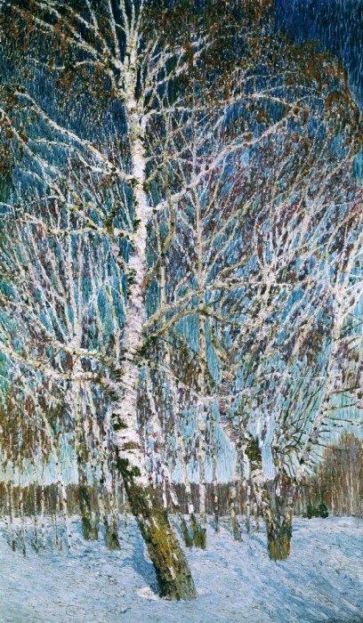 Февральская лазурь. Художник Игорь Грабарь, 1904 г. Фото: hudojnik-impressionist.ru