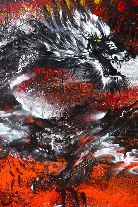 Фантастический мурал от китайского художника