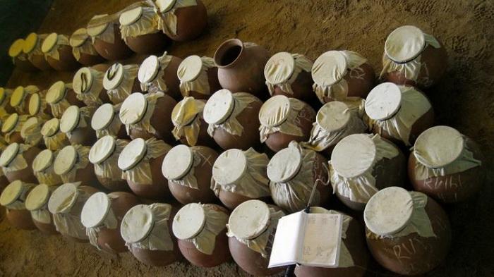 Глиняные кувшины со змеями в кооперативе по сбору яда. Фото: wildwildworld.net.ua