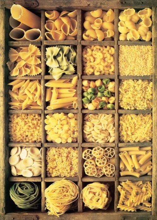 Разные виды итальянской пасты. Фото: italy4.me
