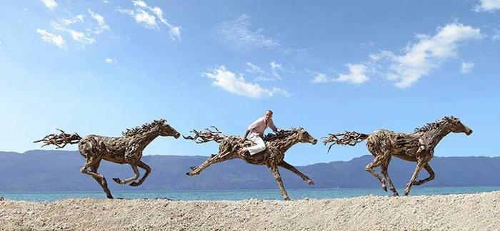 Джеймс Доран-Уэбб и его деревянные скульптуры