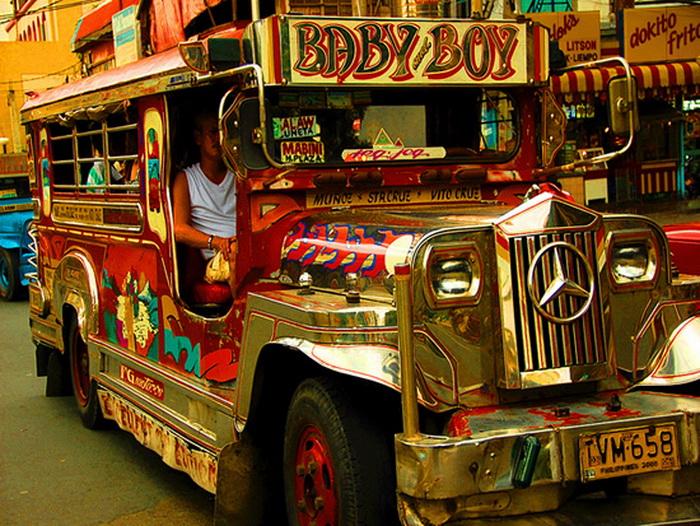 Jeepney bus: позитивный общественный транспорт из Филиппин