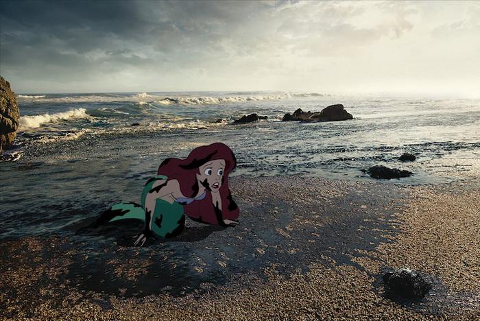 Несчастливый финал диснеевских историй. Иллюстрации от Джеффа Хона (Jeff Hong)