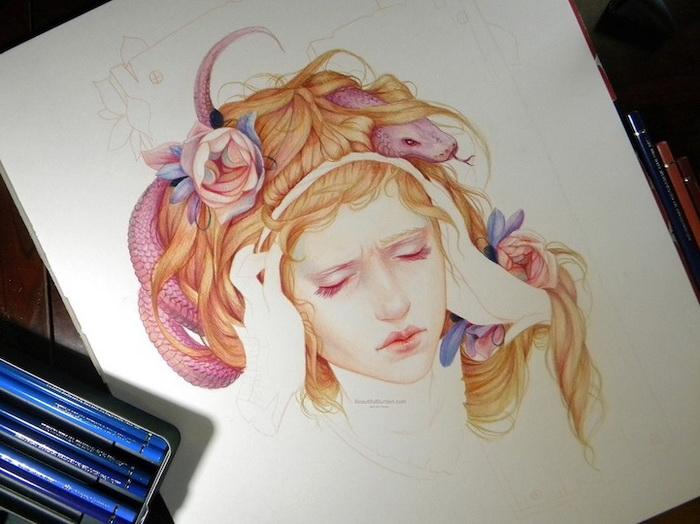 Незавершенный женский портрет