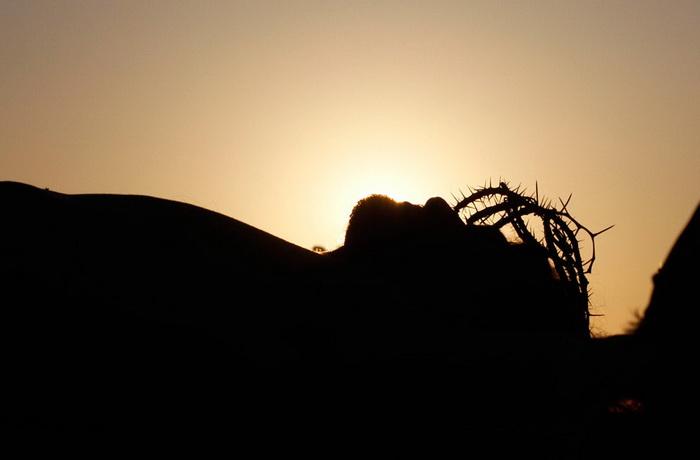 Мексика. Инсценировка распятия Иисуса Христа в страстную пятницу
