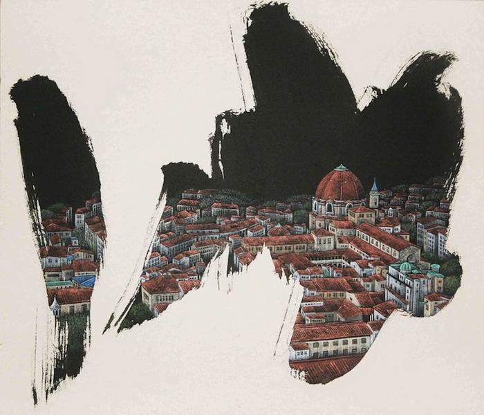 Абстрактный реализм: городские пейзажи от Jieun Park