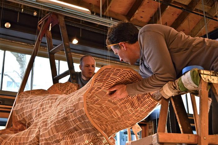 Над созданием скульптуры трудились волонтеры