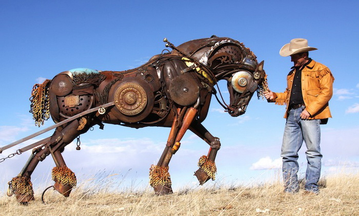 Скульптуры из металлолома от Джона Лопеса (John Lopez)