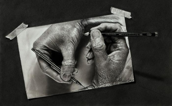 Фотореалистические рисунки Джоно Драя (Jono Dry)