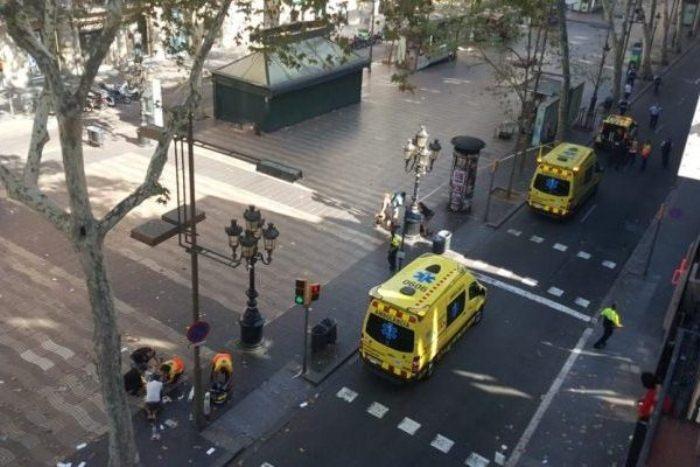 Теракт в Барселоне: место трагедии.