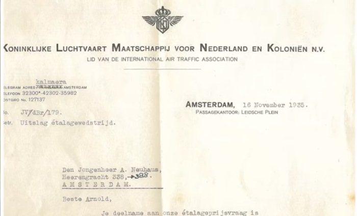 Билет, который выиграл Арнольд Нойхаус в 1935 году.