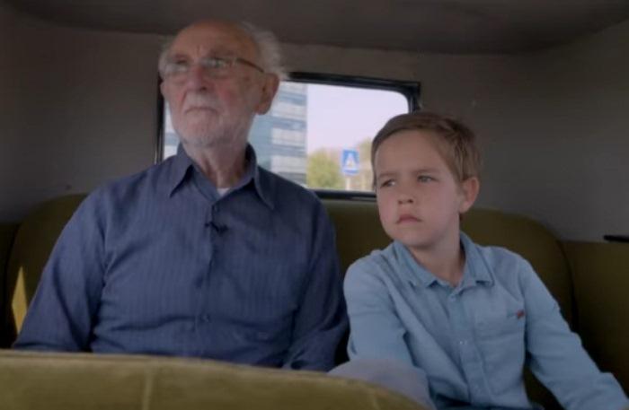 Арнольд с праправнуком.