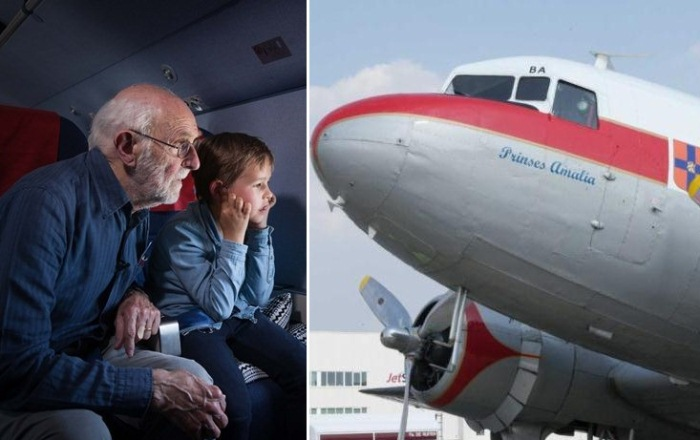 Арнольд Нойхаус 83 года ждал полета на самолете KLM над Амстердамом.