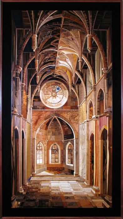 Kalman Radvanyi изображает готические соборы
