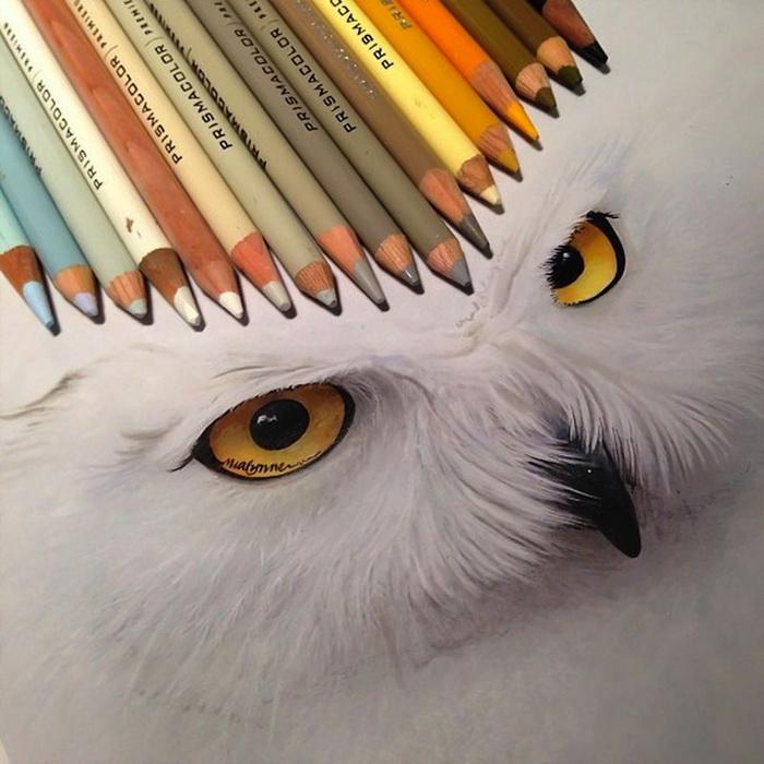 рисунки карандашом и красками: