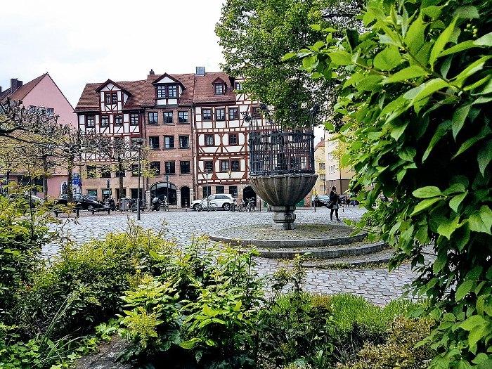 Площадь Уншлиттплац в Нюрнберге, где однажды утром появился Каспар Хаузер.