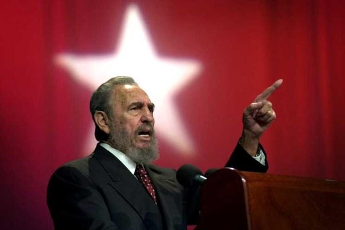 Фидель Кастро во время выступления. Фото: tvc.ru