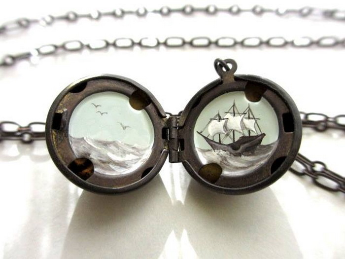 Волшебные миры на медальонах от Кары Ледонне (Khara Ledonne)