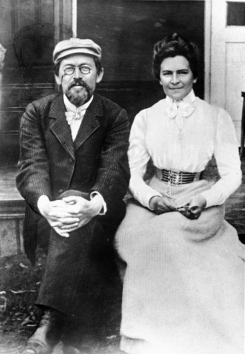 Ольга Книппер и Антон Чехов уже в статусе мужа и жены