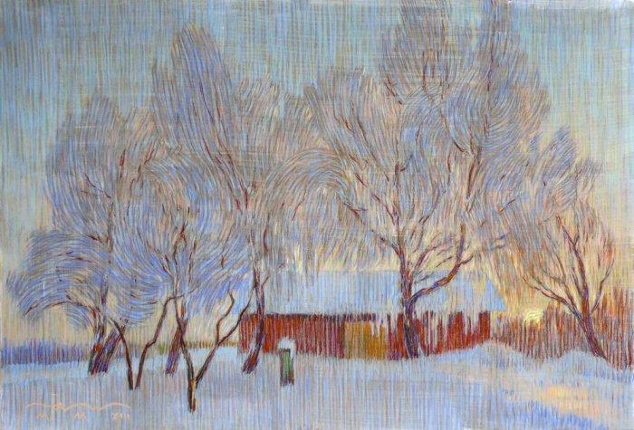 Зимний пейзаж от Сергея Коморного