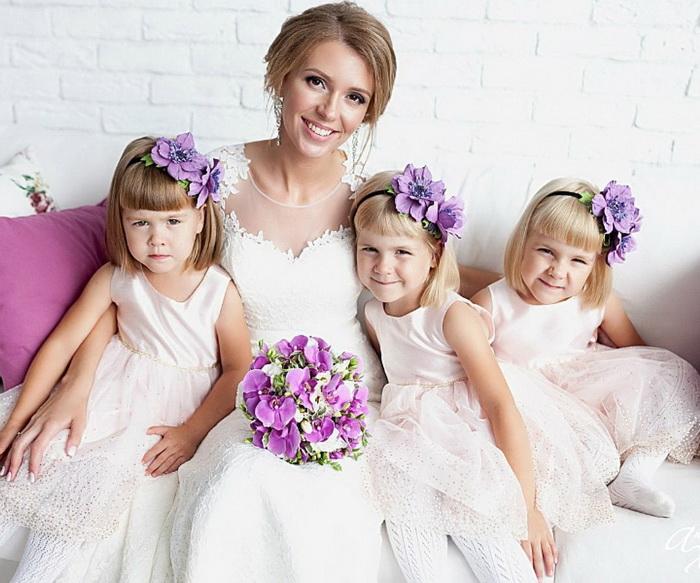 Людмила Кудрявцева с дочерьми.