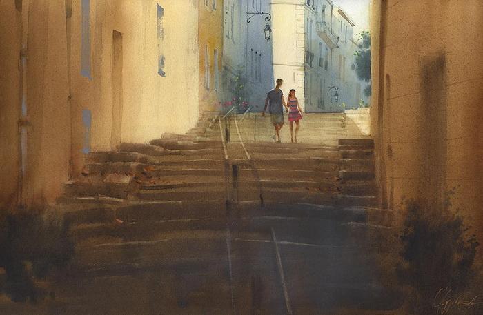 Марсельские каникулы. Вниз по лестнице