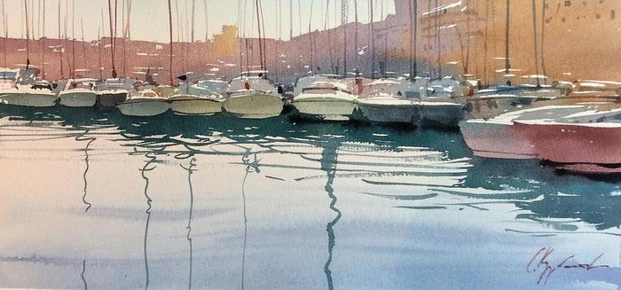 Марсельский порт, утро