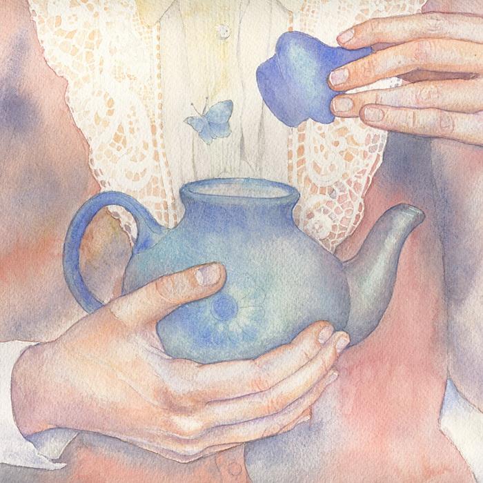 'Бабочка', акварель Марии Курбатовой