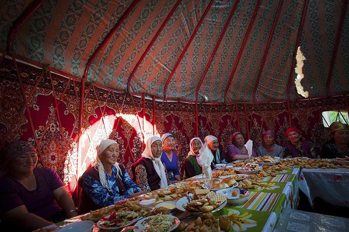 Традиционная свадьба в Кыргызстане.