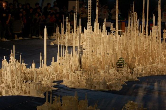 Макет Японии из кубиков Lego