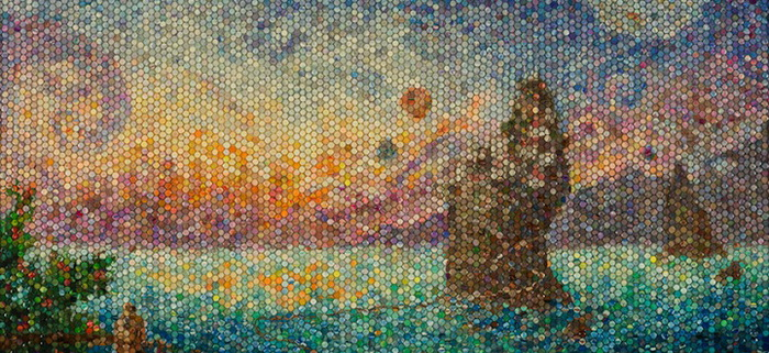 Мозаика из пластилина от Лейси Надсон (Lacy Knudson)