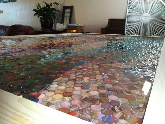Процесс работы над созданием мозаики