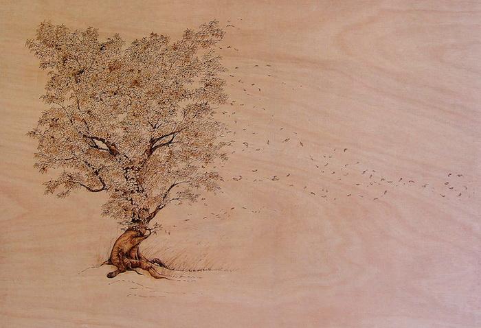 Выжигание по дереву. Работы от художника LeRoc