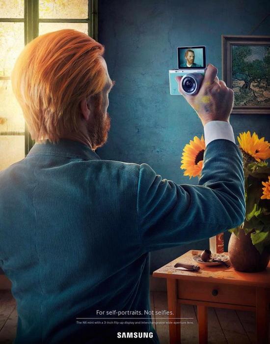 Винсент ван Гог: креативная реклама камеры Samsung от рекламного агентства Leo Burnett