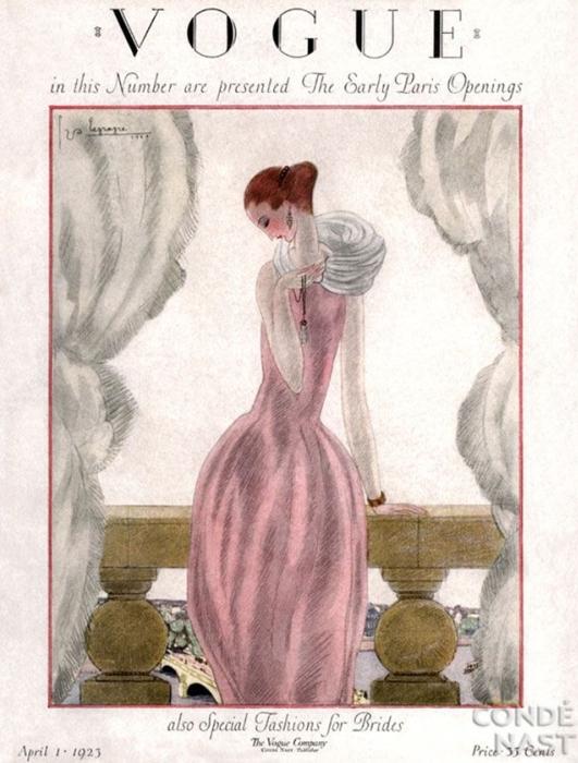 Обложка журнала Vogue, апрель, 1923. Иллюстратор Жорж Лепап (Georges Lepape)