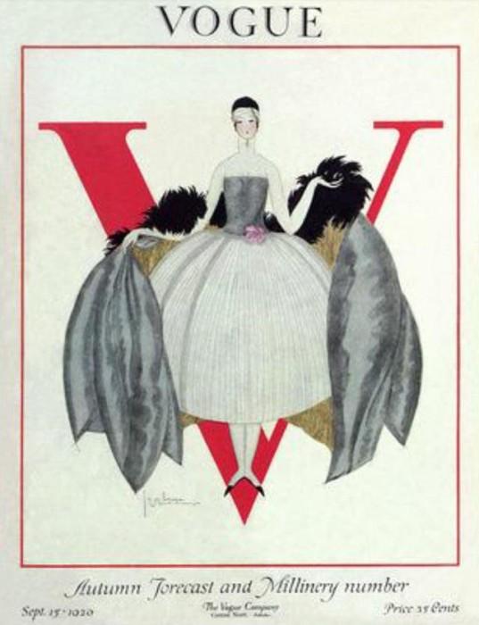 Обложка журнала Vogue, сентябрь, 1920. Иллюстратор Жорж Лепап (Georges Lepape)