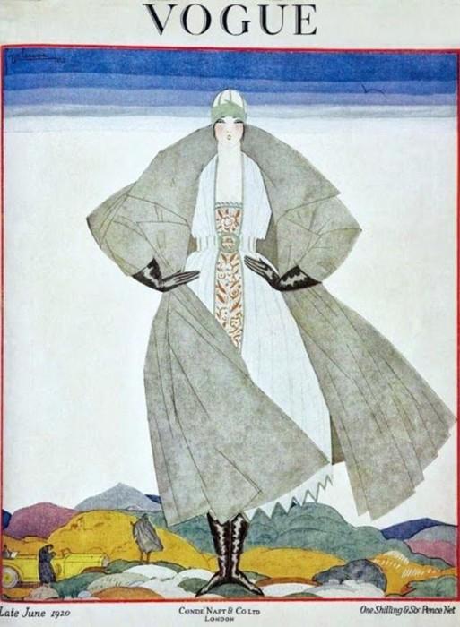Обложка журнала Vogue, июнь, 1920. Иллюстратор Жорж Лепап (Georges Lepape)