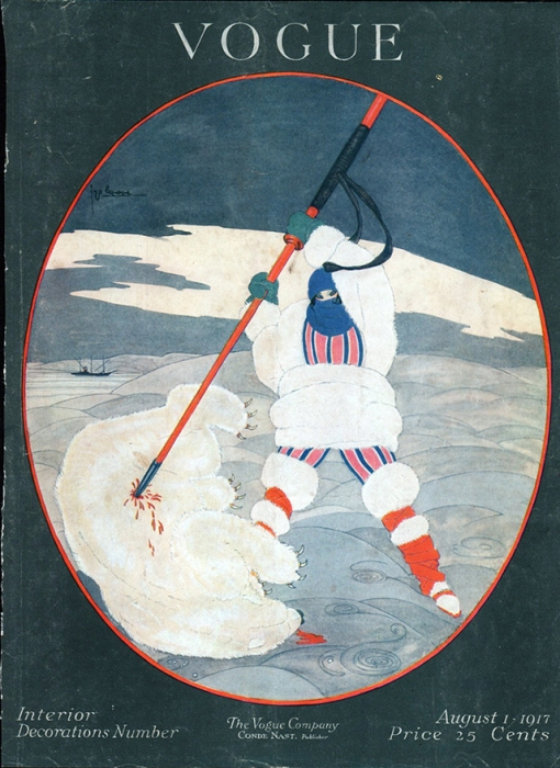 Обложка журнала Vogue, август, 1917. Иллюстратор Жорж Лепап (Georges Lepape)