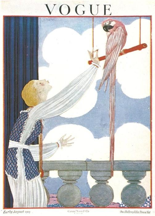 Обложка журнала Vogue, август, 1919. Иллюстратор Жорж Лепап (Georges Lepape)