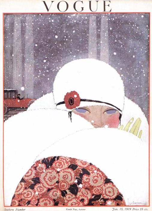 Обложка журнала Vogue, январь, 1919. Иллюстратор Жорж Лепап (Georges Lepape)