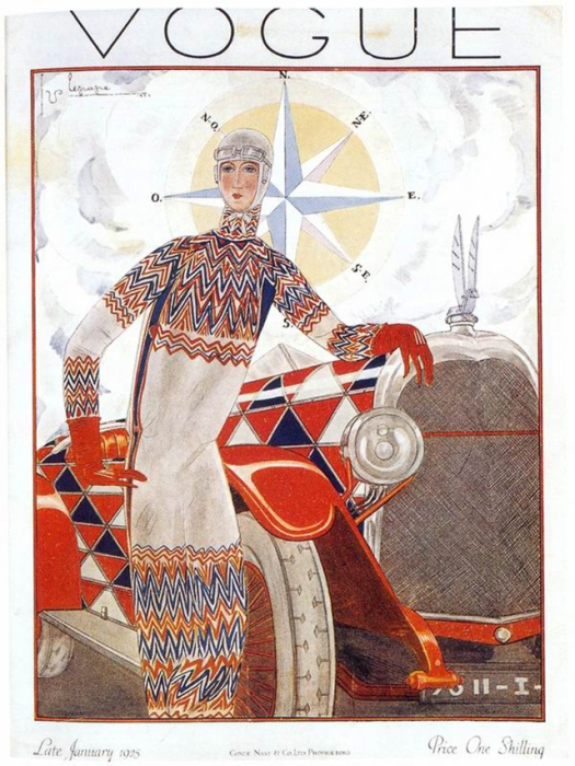 Обложка журнала Vogue, январь, 1925. Иллюстратор Жорж Лепап (Georges Lepape)