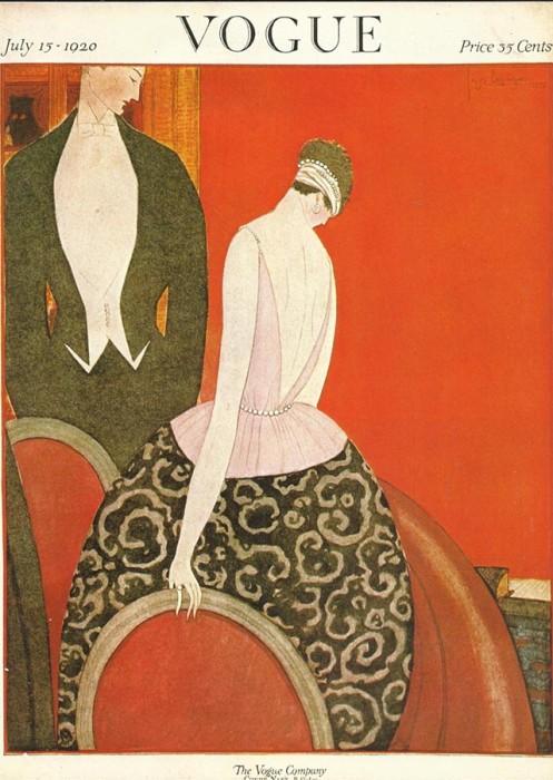Обложка журнала Vogue, июль, 1920. Иллюстратор Жорж Лепап (Georges Lepape)